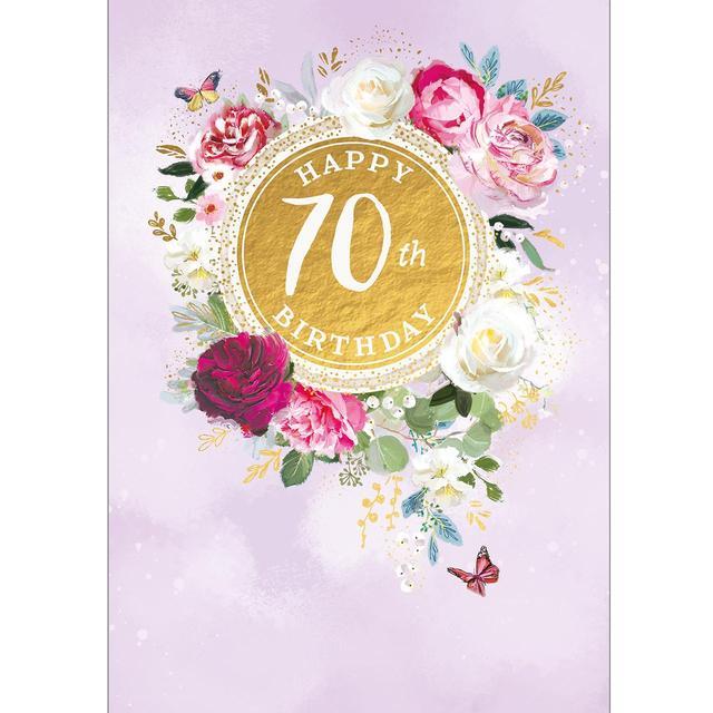 70th Birthday Card From Ocado