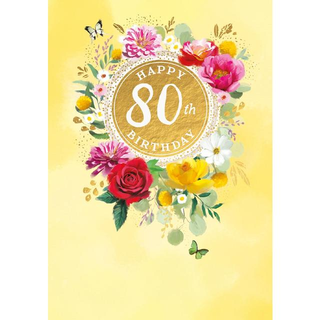 80th Birthday Card From Ocado