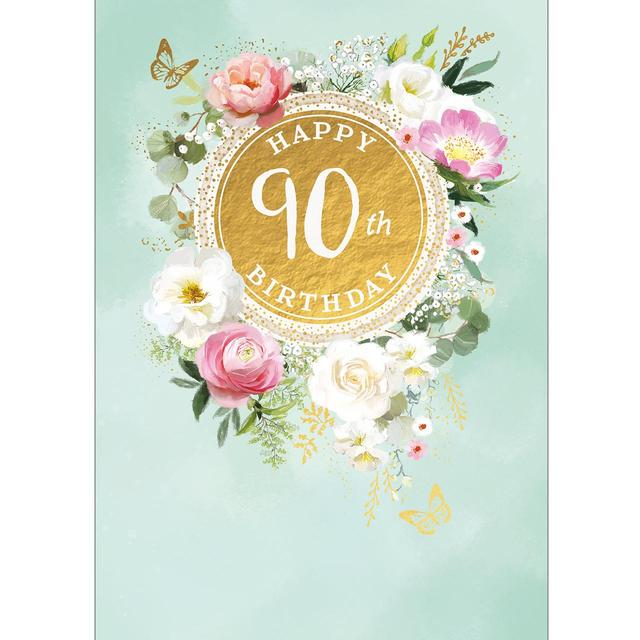90th Birthday Card From Ocado
