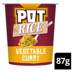 Pot Rice Vegetable Curry Snack Pot