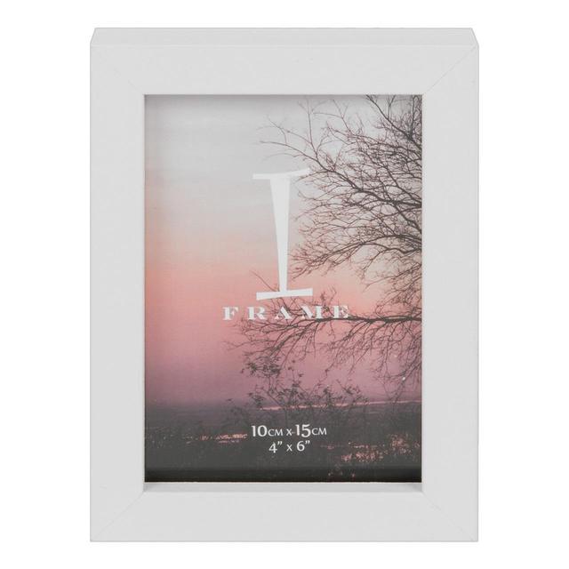iframe plastic white photo frame 4 x 6 from ocado