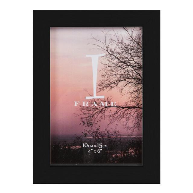 iframe plastic black photo frame 4 x 6 from ocado