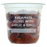 Waitrose Kalamata Olives with Garlic & Chilli