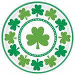St Patrick's Day Paper Plates, 23cm