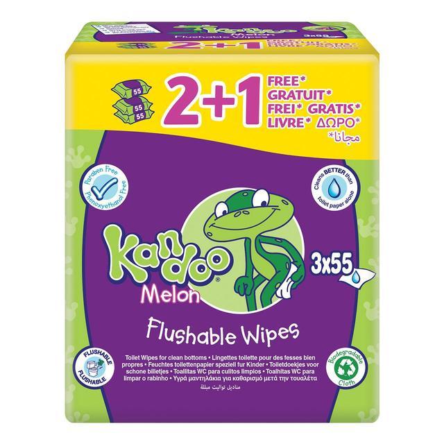 Baby Wipes Kandoo Melon Flushable Wipes And Dispenser