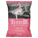 Tyrrell's Honey Roast Ham & Cranberry Potato Chips