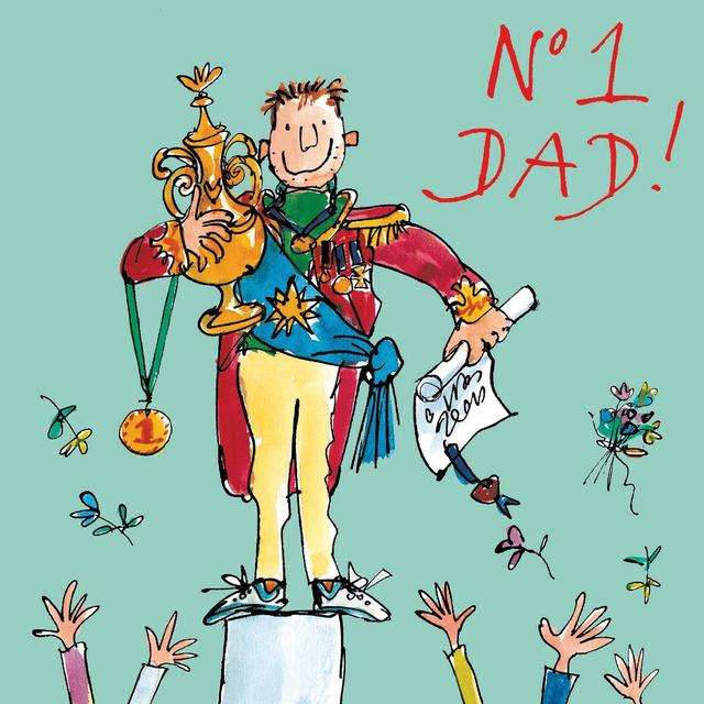 Quentin Blake Champion Father's Day Card