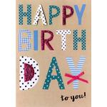 Hand Finished Happy Birthday Card