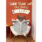 Hand Finished Take Time Out Birthday Card