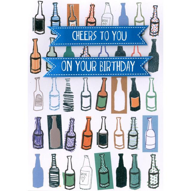Hand Finished Cheers To You Birthday Card