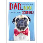 Grumpy Dog Birthday Card