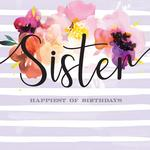 Happiest Sister Birthday Card