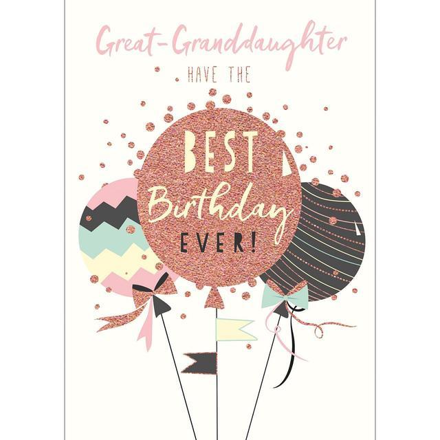 Great Granddaughter Birthday Card From Ocado