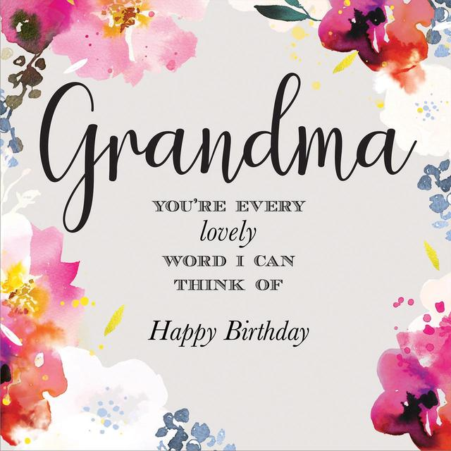 Grandma Birthday Card From Ocado