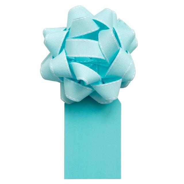 Waitrose Aqua Stitched Bow & Tag