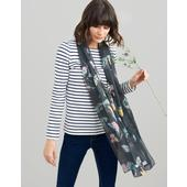 Joules Printed Scarf Wensley, Black All Over Floral