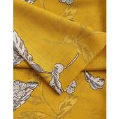 Joules Printed Scarf Wensley, Gold Floral
