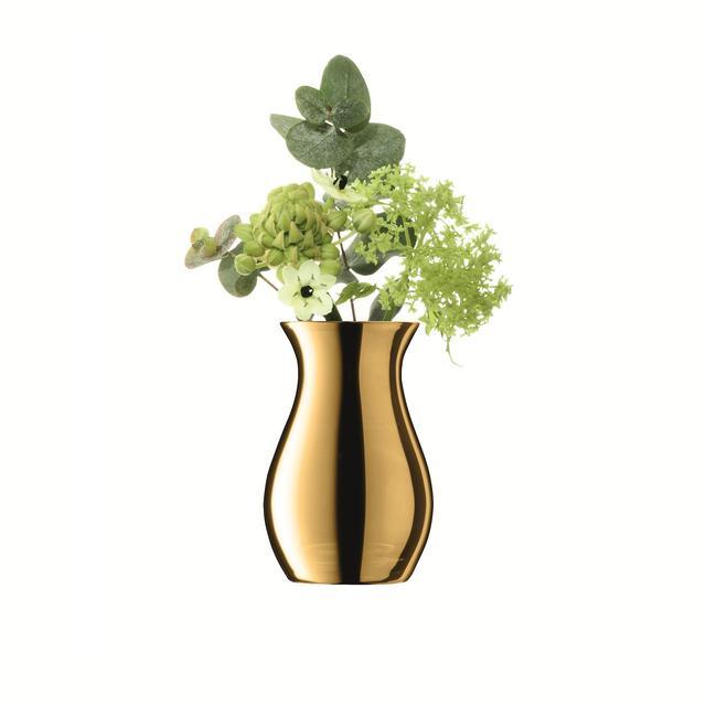 Offer - LSA International Flower Metallic Mini Posy Vase H10cm Gold