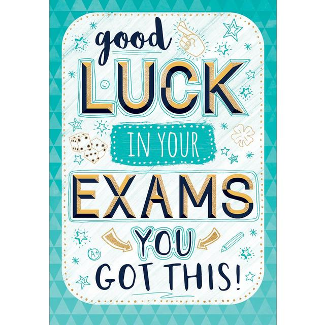 Good Luck Exams Card From Ocado