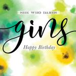 She Who Dares Birthday Card