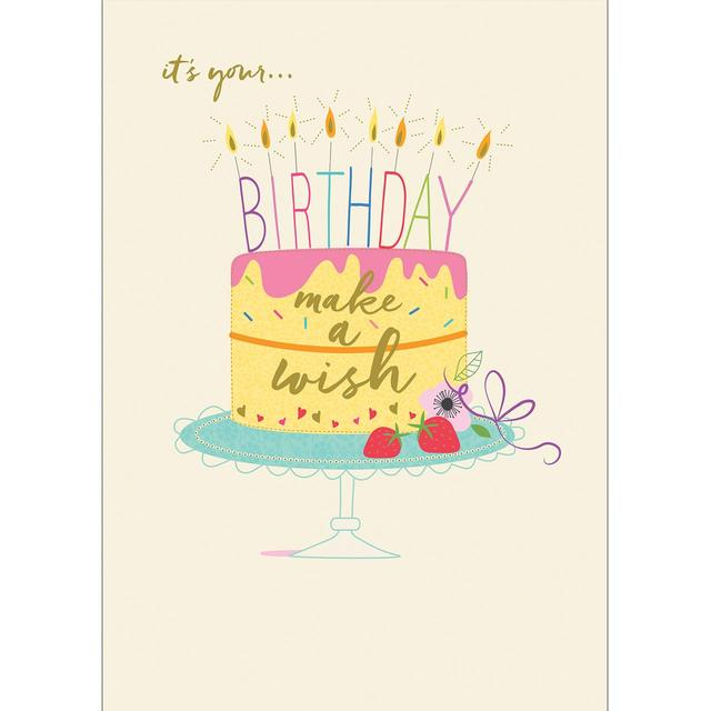 Make A Wish Cake Birthday Card From Ocado