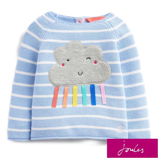 Joules Knitted Jumper, Blue Stripe Cloud