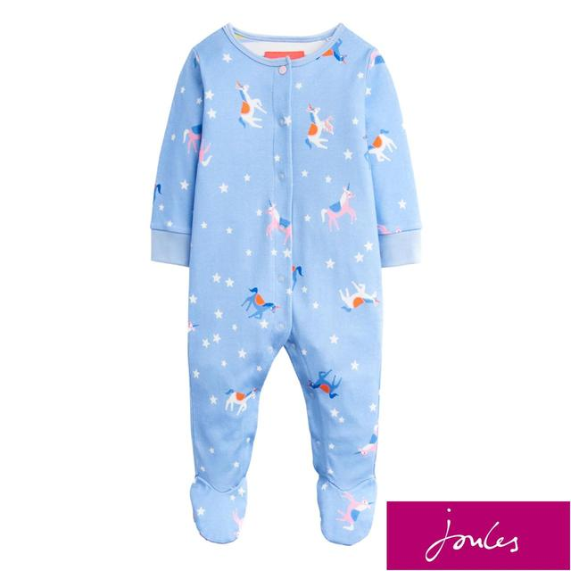 Joules Blue Unicorn And Star Sleepsuit