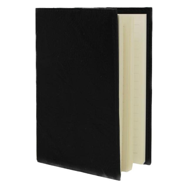 Leather Effect A5 Notebook, Black