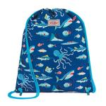 Cath Kidston Kids Drawstring Bag Spooky Fish Royal Blue