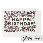 Paperchase Flowers Happy Birthday Card