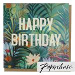 Paperchase Tropical happy Birthday Card