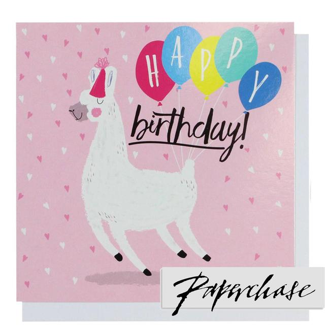 Paperchase Happy Birthday Llama Card