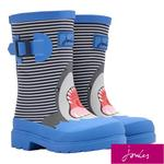 Joules Boys Blue Stripe Shark Wellies