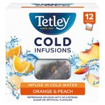 Tetley Cold Infusions Peach & Orange Teabags