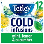 Tetley Cold Infusions Cucumber Mint & Lemon Teabags
