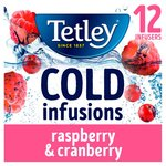Tetley Cold Infusions Raspberry & Cranberry Teabags