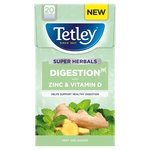 Tetley Super Herbals Digestion Mint & Ginger Tea Bags