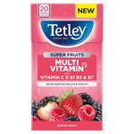 Tetley Super Fruit Multivitamin Summer Berry Tea Bags