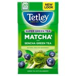 Tetley Super Green Tea Matcha Blueberry Tea Bags