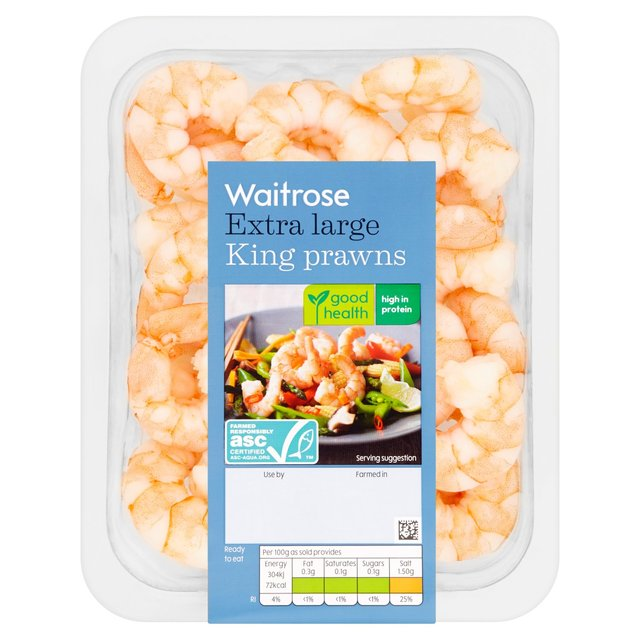 Waitrose Cooked & Peeled Jumbo King Prawn
