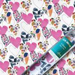 Hearts Gift Wrap Sheets