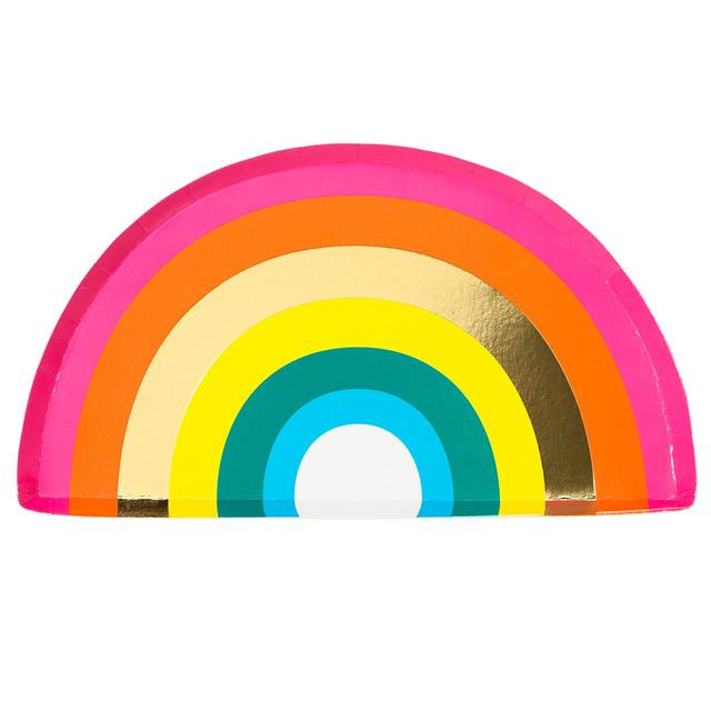 Talking Tables Rainbow Foiled Plate
