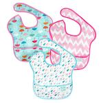 Hippychick Bumkins - Girls 3 Pack Umbrella, Raindrop, Pink Chevron