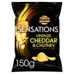 Sensations Vintage Cheddar & Red Onion Chutney Crisps