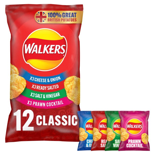 Walkers Classic Variety Crisps 25g x 14 per pack from Ocado