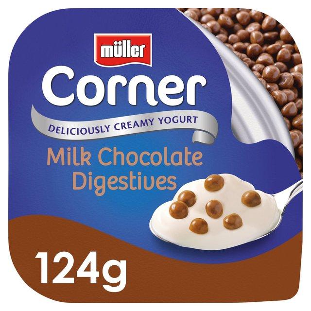 Muller Corner Vanilla Yoghurt With Chocolate Digestive Biscuits