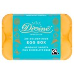 Divine Chocolate Fairtrade Six Golden Easter Eggs Box