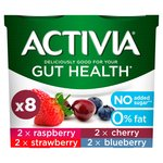 Activia No Added Sugar 0% Fat Raspberry, Strawberry, Cherry and Blueberry