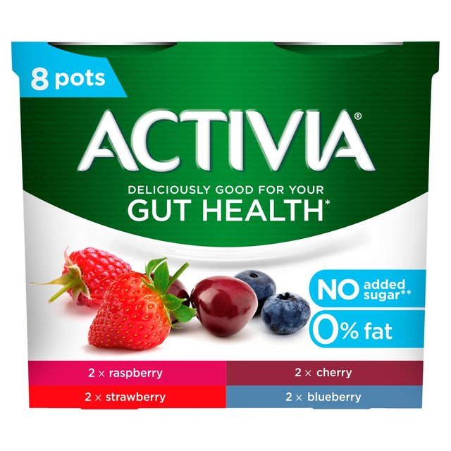 Activia No Added Sugar 0% Fat Raspberry