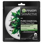 Garnier Charcoal and Black Tea Hydrating Face Sheet Mask
